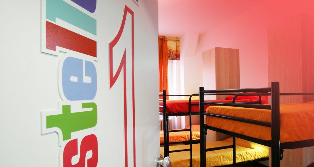 Milano Ostello – La Camera1 è per sei persone. Ti aspettiamo