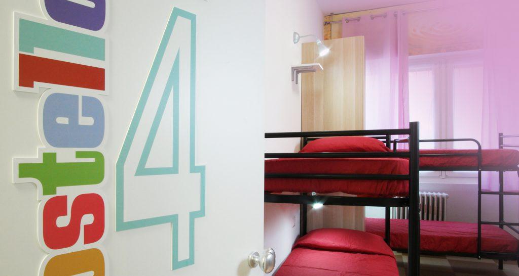 Milano Ostello – La Camera4 è per sei persone